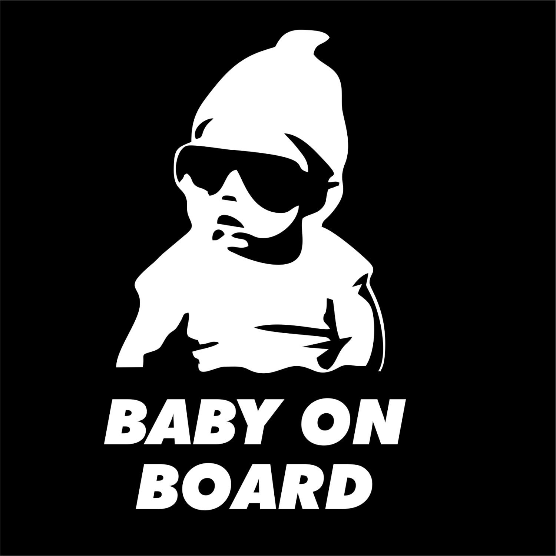baby on board vinyl decal sticker funny truck car hangover. Black Bedroom Furniture Sets. Home Design Ideas