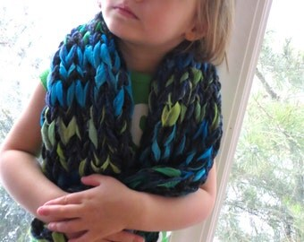 Multicolored Gossamer Flower Scarf for Child Toddler