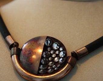 Vintage bold modern industrial necklace