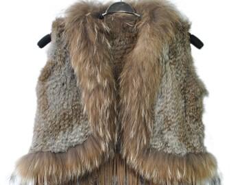Kid's Girl's Rabbit Fur Vest Vests Made to Order - For you little Fashionista!