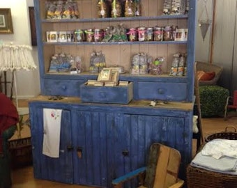 Blue Farmhouse Hutch