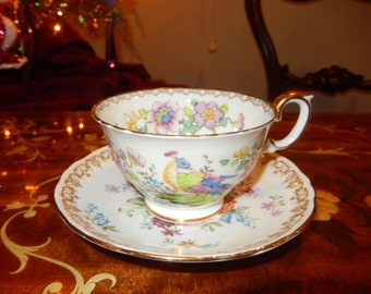 ENGLAND CROWN STAFFORDSHIRE Teacup and Saucer