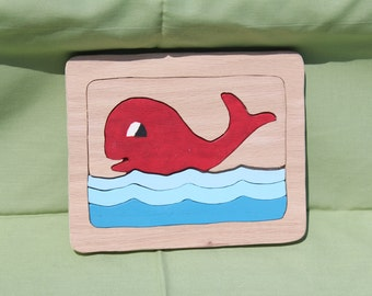 Small (5 Piece) Whale Puzzle