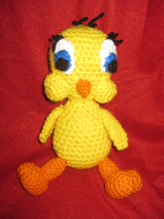 Amigurumi Tweety Yapilisi : Items similar to Crocheted Tweety Bird Amigurumi on Etsy