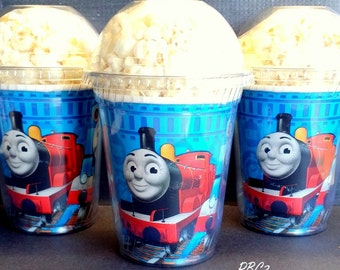 Popcorn Boxes,Thomas The Train Birthday Party Popcorn Boxes with dome lid