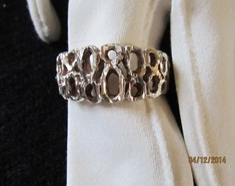 Unique sterling silver ring size 10