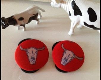 cow skull ponytail holders  Cow skull hair elastic. Cowgirl hairband, cow girl ponytail holder, emo hair band, rockabilly hairband, goth
