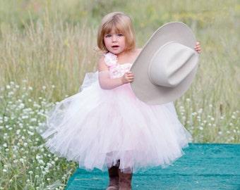 Light Pink Flower girl Dress- Flower girl dress- Flower girl dresses- Tutu Dress- Pink Tutu