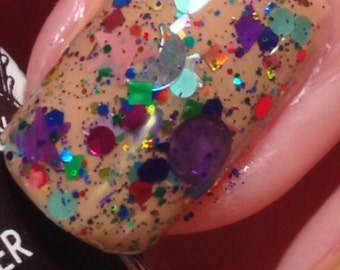Crazy on You - holographic nail polish - glitter nail polish - matte nail polish - handmade - indie nail polish - indie cosmetics - makeup