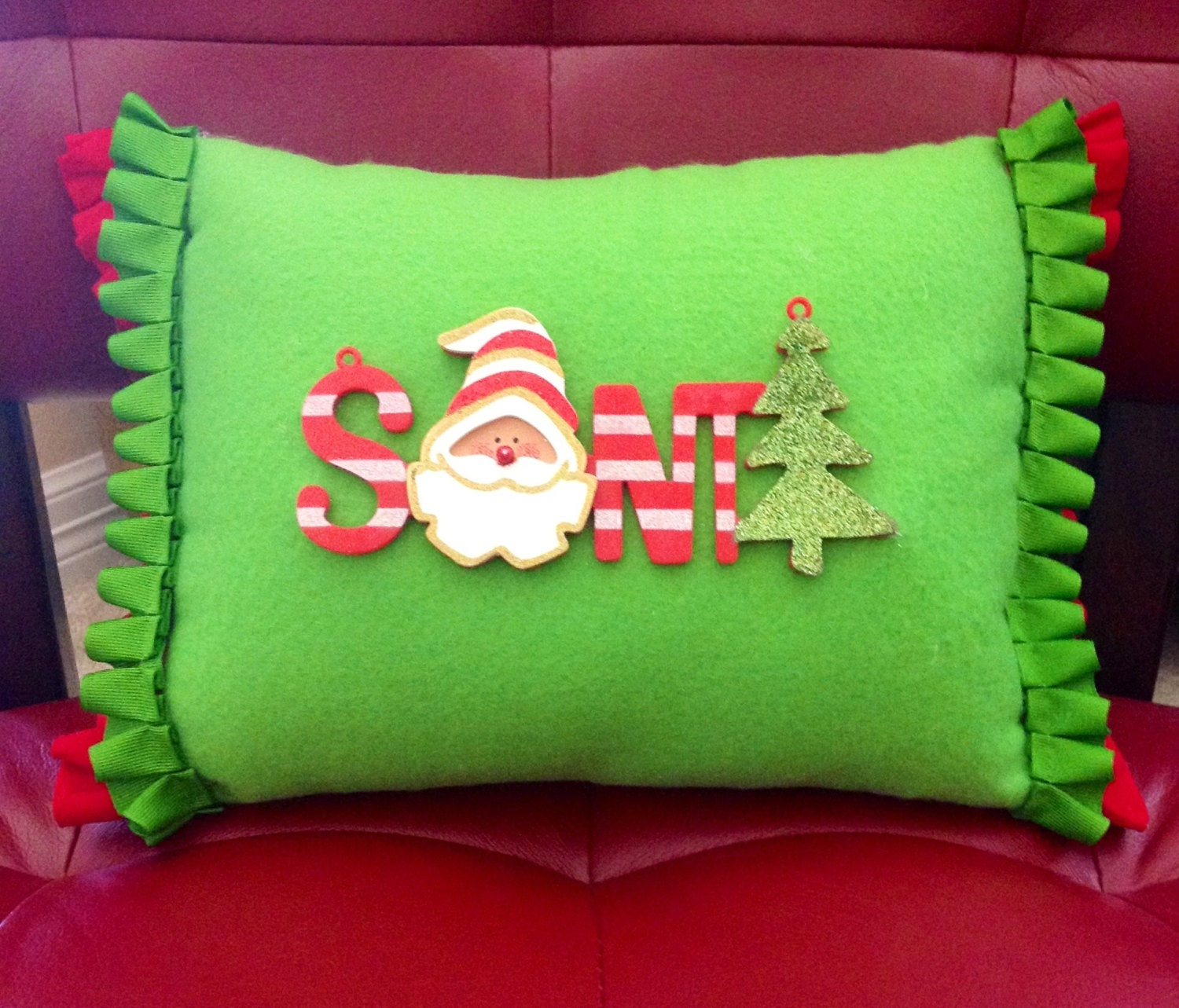 Cute Tumblr Pillows Etsy : Cute Handmade Holiday Pillow by NaeMakeSomeCraftShop on Etsy