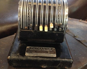 Vintage Paymaster Checkwriter and Protector