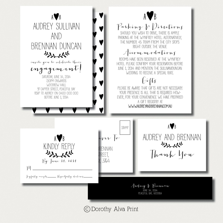 Rustic Modern Wedding Invitation Suite Kraft Paper Diy