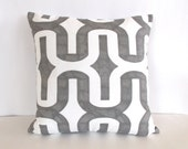 Gray & White Throw Pillow Cover - White and Gray Throw Pillow