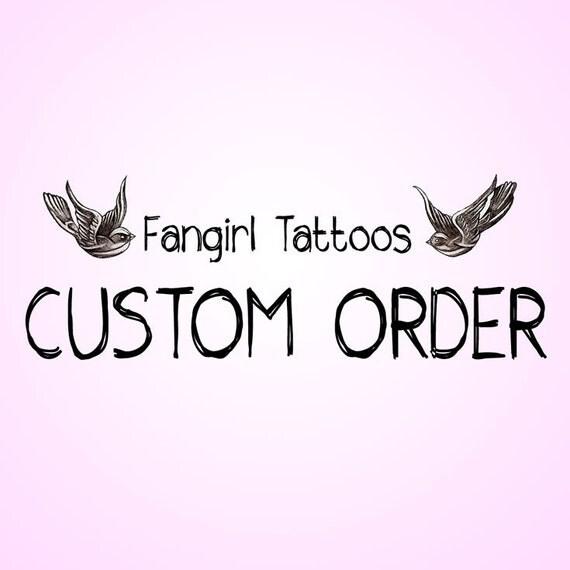 Custom made temporary tattoos for Custom temporary tattoos no minimum