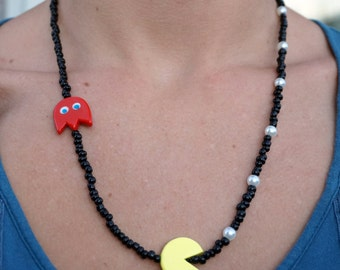 Pac-man inspired necklace