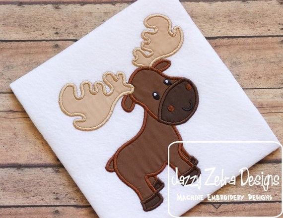 Moose Applique Embroidery Design
