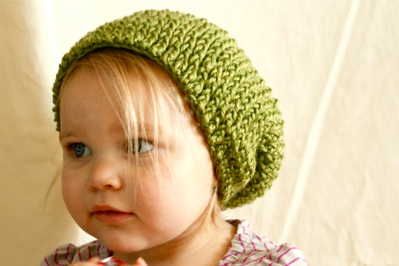 Slouchy Crochet Hat - Unisex for Adult and Baby
