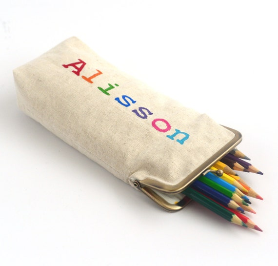 items similar to personalized pencil pouch