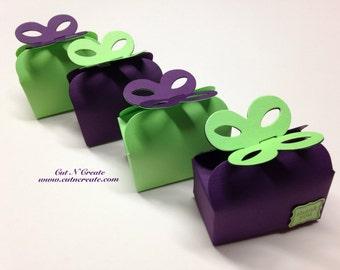Lime Green Wedding Lime Green Favors Purple Wedding Purple Wedding Favor Box Truffle Boxes Truffle Box Favors
