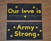 Our Love Is Army Strong MEDIUM Care Package Tabs
