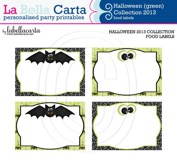 FREE Halloween Party Printables from Giggles & Grace ... |Halloween Party Food Labels