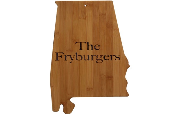 alabama state shaped cutting board personalized by aestheticwood. Black Bedroom Furniture Sets. Home Design Ideas