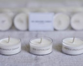 The Awesome Candle / 10 Soy Tea Light Candles / 10 different scents / trial set / Tealights / scented candle / assorted pack