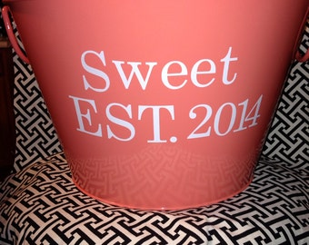 Personalized Beverage Tub with Last Name and Wedding Date -Great Gift
