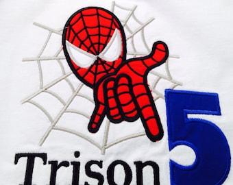 Personalized Spiderman Birthday shirt