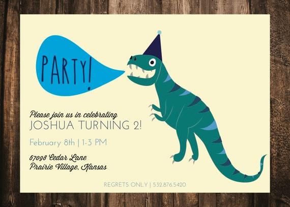 invitation anniversaire dinosaure enfants par blacklabstudio. Black Bedroom Furniture Sets. Home Design Ideas