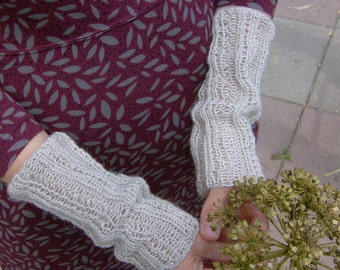 pure linen mittens / arm warmers