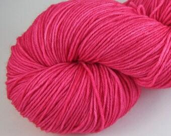 Hand Dyed Sock Yarn - Elizabeth Neon Superwash Merino Wool Yarn - Staple Sock