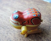Vintage Tin Wind Up Hopping Frog
