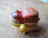 Vintage Tin Wind Up Hopping Frog
