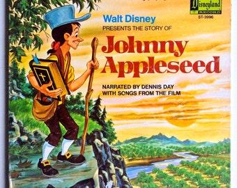 The Story of Johnny Appleseed LP Vinyl Record Album, Disneyland - ST-3996, Pop, Childrens,  Soundtrack, Story, Folk, 1971, Original Pressing
