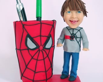 Custom figurines from your photos - Pen holder - 100% Money-Back Guarantee
