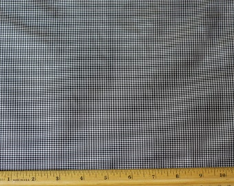 "Black/White Tissue Taffeta Checks 100% Silk Fabric 44"" Wide, By Yard (SD-699)"