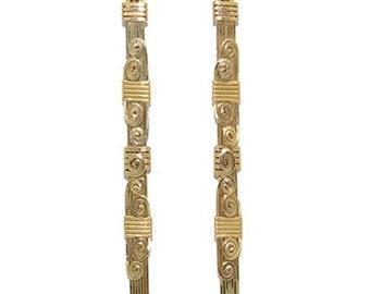 Handmade Wire Wrapped Earrings 14K Gold Filled Fine Jewelry Dangle Earrings Drop Earrings