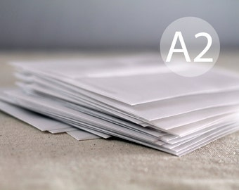 "A2 White Frost - Translucent / Vellum Envelopes - 4.375 x 5.75 inches ( 4 3/8"" x 5 3/4"") - Quantity 25"
