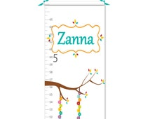 Growth Chart - Personalized Growth Chart - Owl Growth Chart - Canvas Growth Chart - Pink Growth Chart - Girl Growth Chart