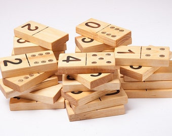 Wooden domino game, wooden dumber Dominoes, eco friendly toy, kids wooden toys, waldorf