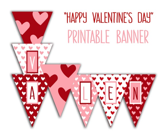 Enterprising image for happy valentines day banner printable