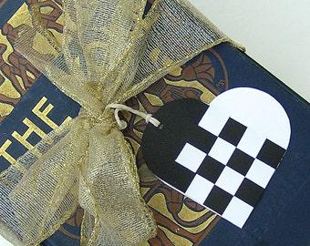 Danish Woven Heart Christmas Gift Tags SET OF 6 Nordic Scandinavian Traditional Style Julehjerter