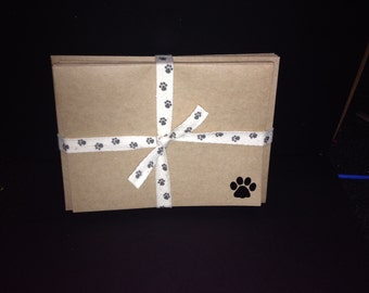 Paw Print  Embossed Cards