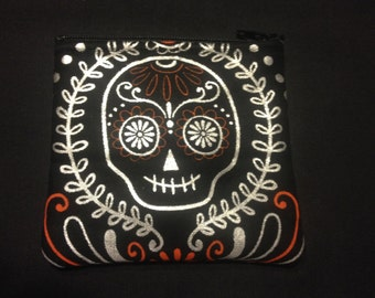 Skull and Spider Decorative Coin Purse #125