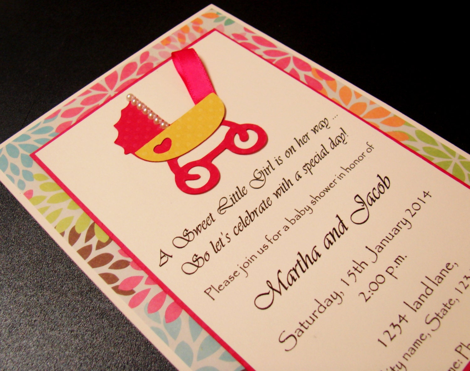cradle baby shower invitation handmade by artisanhut on etsy