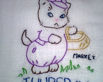 Kitten Chores pattern Thursday Free Shipping
