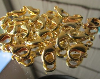 20pcs of Gold Plated Parrot Lobster Clasp,Clasp