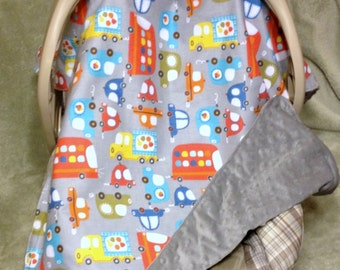 Car Seat / Stroller Cover Blanket Canopy (Your Fabric Choice)
