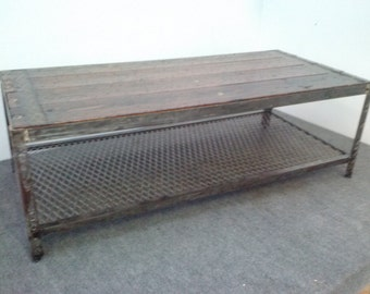Industrial Metal Coffee Table Item 036